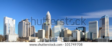 Charlotte skyline, North Carolina - panorama of Charlotte, downt Stock photo © Winner