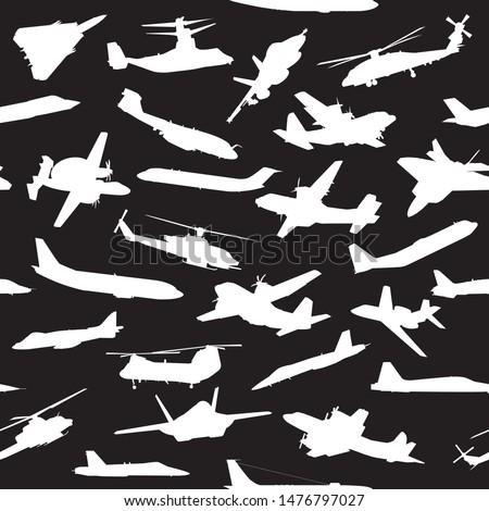 Avion silhouettes aviation modèle Photo stock © jeff_hobrath