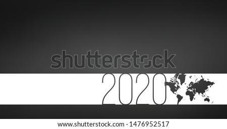 Hd テンプレート パンフレット カバー ストライプ 世界地図 ストックフォト © kyryloff