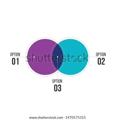 two overlapping circles design vector and marketing can be used for workflow layout, annual report,  Stock photo © kyryloff