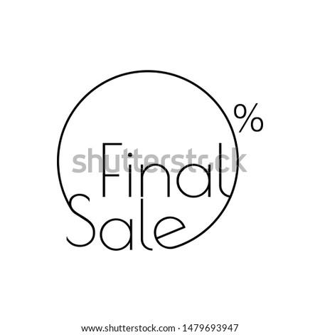 Linear final venda círculo adesivo cartaz Foto stock © kyryloff