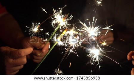 Foto stock: Manos · junto · círculo · brillante · luces