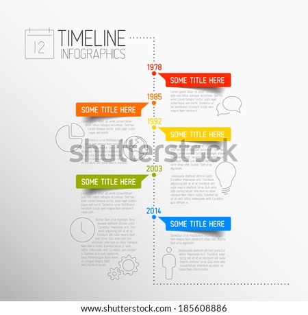 Zdjęcia stock: Modern Infographic Timeline Report Template - Light Color Version