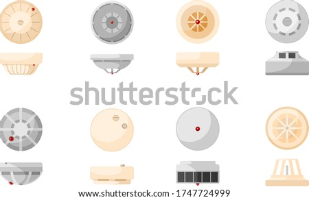 smoke detector fire and gas home security system vector illustra Stock photo © konturvid