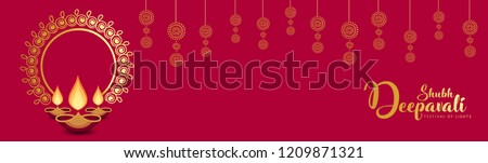 happy diwali premium golden decorative festival greeting design Stock photo © SArts