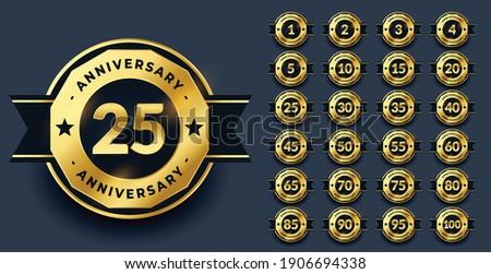 Verjaardag groot ingesteld premie gouden Stockfoto © SArts