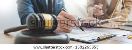 Lawsuit and justice concept, Lawyer  working with partner at law Stock photo © snowing
