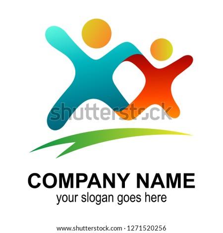 Diversión crianza de los hijos bienestar familia logo símbolo Foto stock © gothappy
