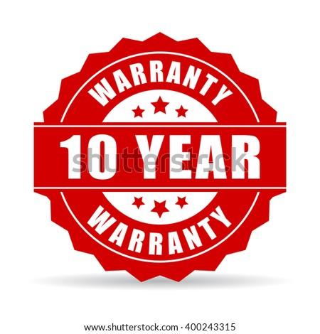 10 éves garancia ikon címke bizonyítvány vásárlók Stock fotó © kyryloff