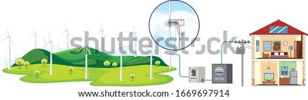 диаграмма электроэнергии домашнее хозяйство иллюстрация Сток-фото © bluering