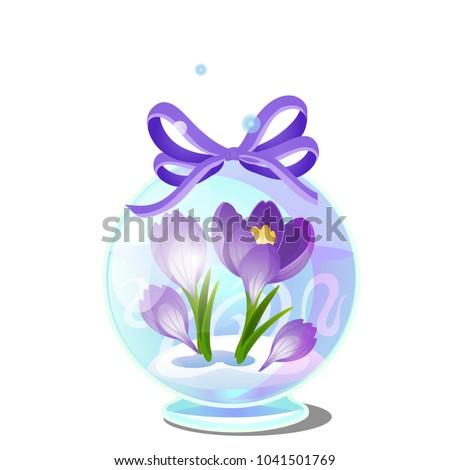Bonitinho criador dom forma transparente vidro Foto stock © Lady-Luck