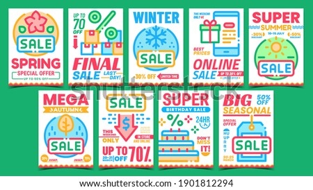 Collection of color stickers template displaying the sale coupon codes  Stock photo © orson