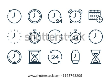 Temps horloge regarder timer vecteur Photo stock © karetniy