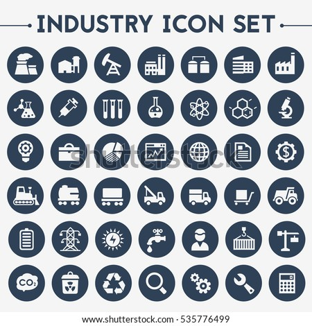 Industrial icons set Stock photo © ayaxmr