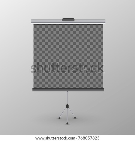 Realistic roll-up banner on tripod with transparent place for advertise poster Stock photo © evgeny89