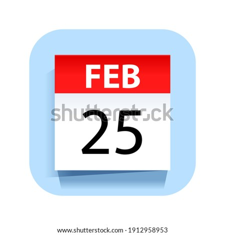 Eenvoudige zwarte kalender icon 25 datum Stockfoto © evgeny89