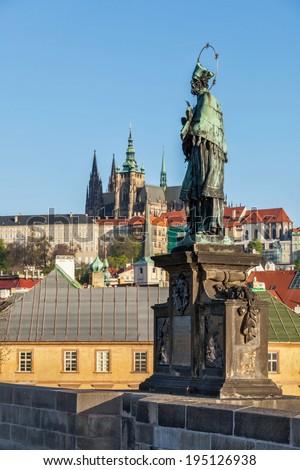 Aziz Çek Çek Cumhuriyeti heykel Avrupa Stok fotoğraf © dmitry_rukhlenko