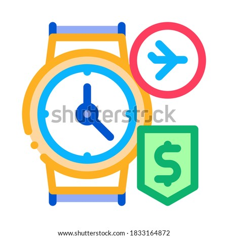 purchase cash wristwatch duty free icon vector outline illustration Stock photo © pikepicture