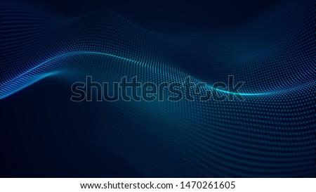 Digital partículas tecnologia futurista ondulado projeto Foto stock © SArts
