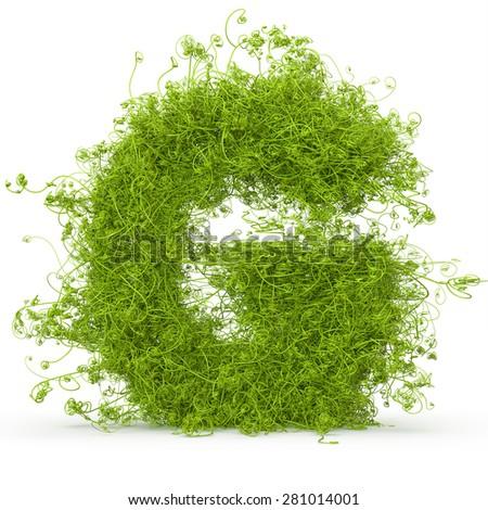 Grass font Letter G 3D Stock photo © djmilic