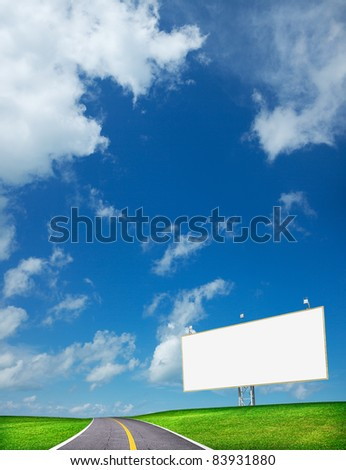Highway and blank billboard. Vertical composition in high resolu Stock photo © moses