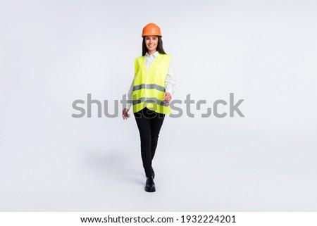 議案 照片 年輕 女士 頭盔 商業照片 © konradbak