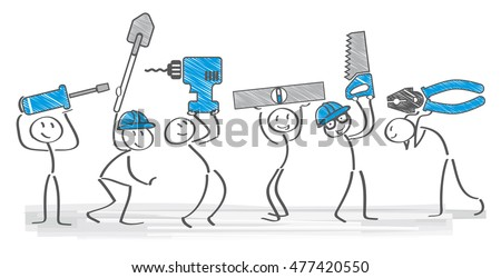 A team of tradespeople at work Stock photo © photography33