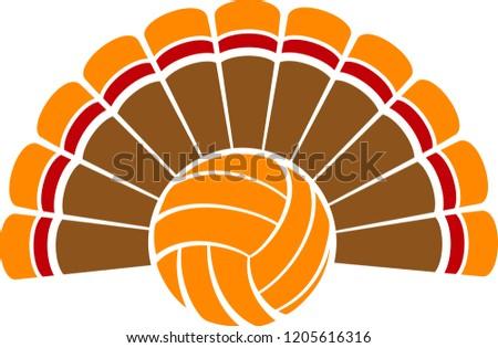 Voleibol ação de graças férias Turquia desenho animado vetor Foto stock © chromaco