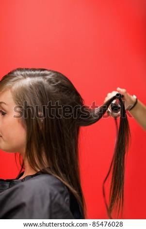 portre · kadın · saç · kırmızı · iş · moda - stok fotoğraf © wavebreak_media