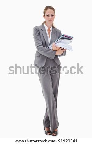 Iroda alkalmazott köteg papírmunka fehér háttér Stock fotó © wavebreak_media