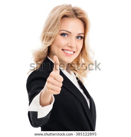 Jeunes femme blonde blanche mode signe Photo stock © wavebreak_media