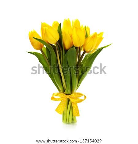 букет желтый тюльпаны белый отражение Сток-фото © Grazvydas