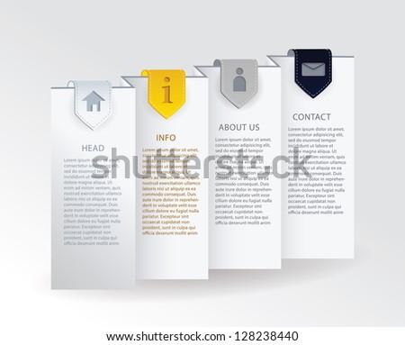 Vektör lüks ilerleme kart şerit oklar Stok fotoğraf © vitek38