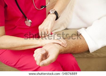 Zdrowia ręce puls Zdjęcia stock © dacasdo