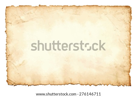 Old dirty stained blank notepaper page isolated on a white background. Stock photo © latent