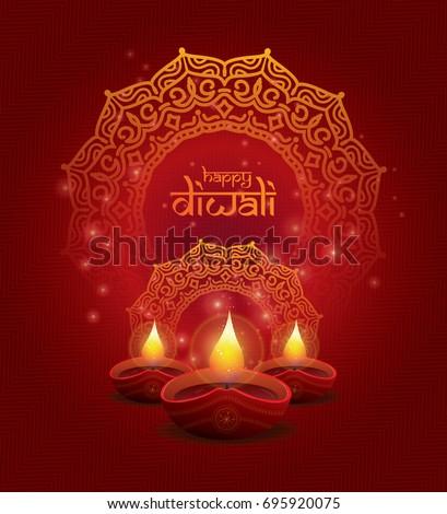 brochure happy diwali background beautiful celebration template stock photo © bharat