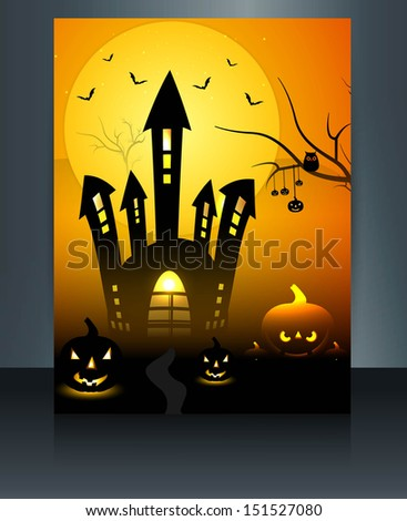 fantastic happy halloween brochure reflection colorful backgroun stock photo © bharat