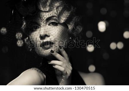 ретро · женщину · позируют · роскошь · шуба · моде - Сток-фото © victoria_andreas
