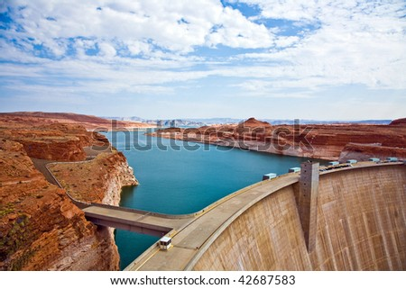 Glen Canyon Dam in Page is delivering power for the whole area Stock photo © meinzahn