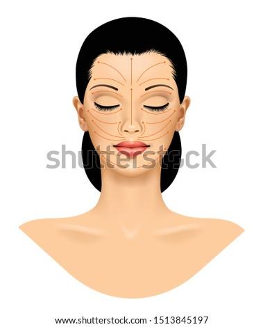 ritratto · bella · donna · trattamento · termale · donna · fiore · faccia - foto d'archivio © ra2studio