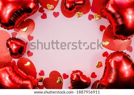 postcard on valentines day with the heart of gold and precious stock photo © yurkina