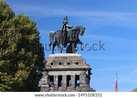 император углу город лошади лет реке Сток-фото © meinzahn