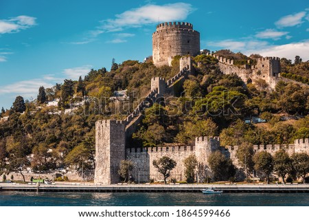 Rumelian Castle also known as Castle of Europe medieval landmark Stock photo © bloodua