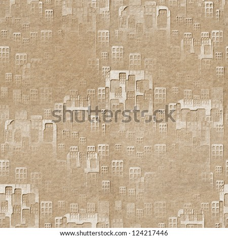 Grunge wall with paper parts Stock photo © Nejron