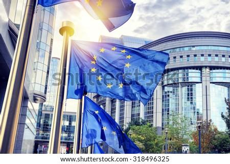 Europeo parlamento Bruselas Bélgica negocios árbol Foto stock © artjazz