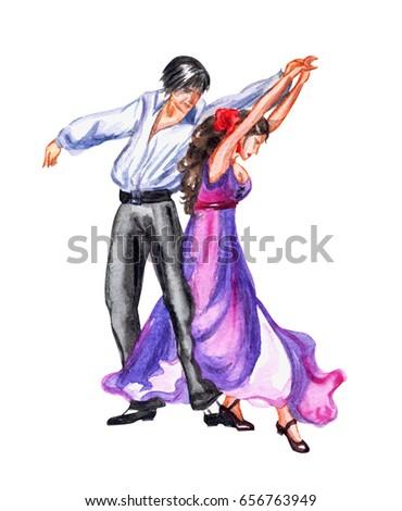 gyönyörű · fiatal · nő · tánc · flamenco · izolált · fehér - stock fotó © leonido