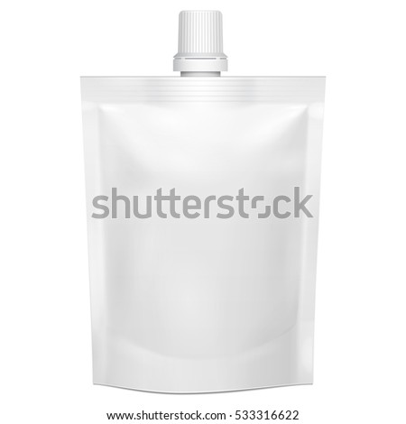 Blank spout pouch, bag foil or plastic packaging. Stock photo © netkov1
