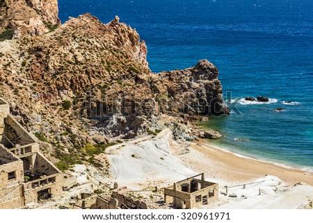 ビーチ · 捨てられた · 島 · ギリシャ · 海 · 旅行 - ストックフォト © ankarb