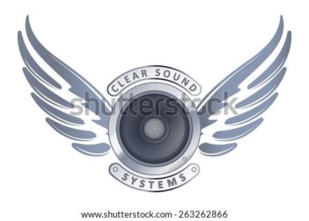 Grunge hangszóró illusztráció ikon feketefehér buli Stock fotó © Melvin07