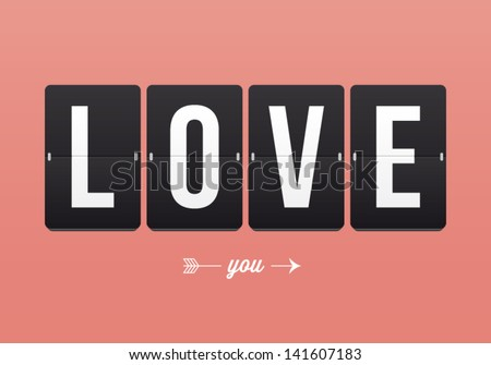 Love Font on mechanical panel letters. Typography, font, type ve Stock photo © kiddaikiddee